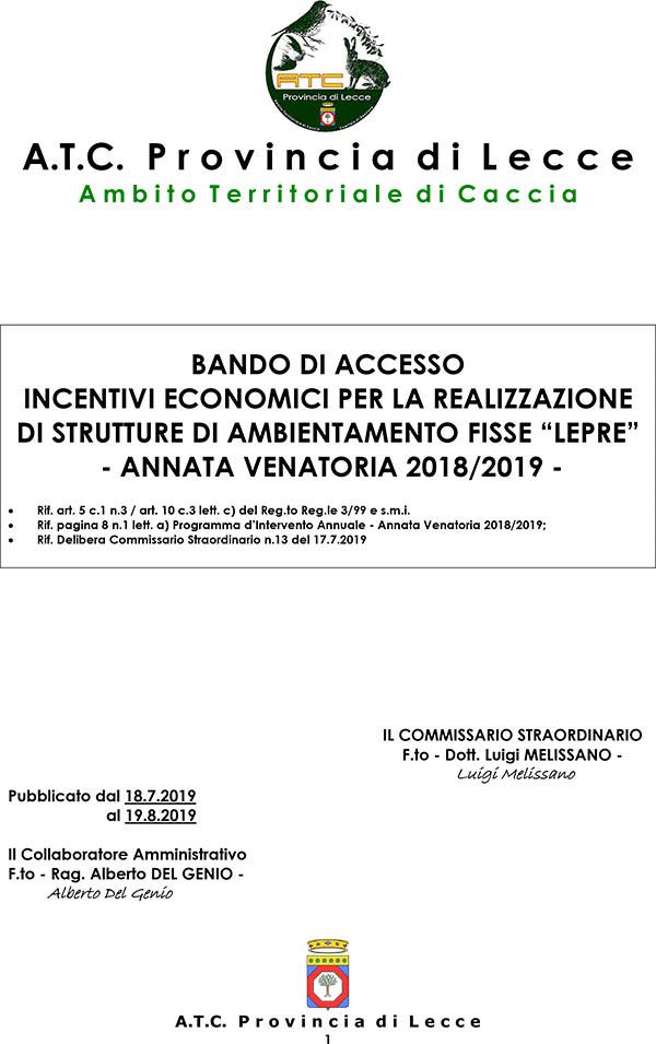 Calendario Venatorio Sicilia 2020.A T C Provincia Di Lecce Ambito Territoriale Di Caccia