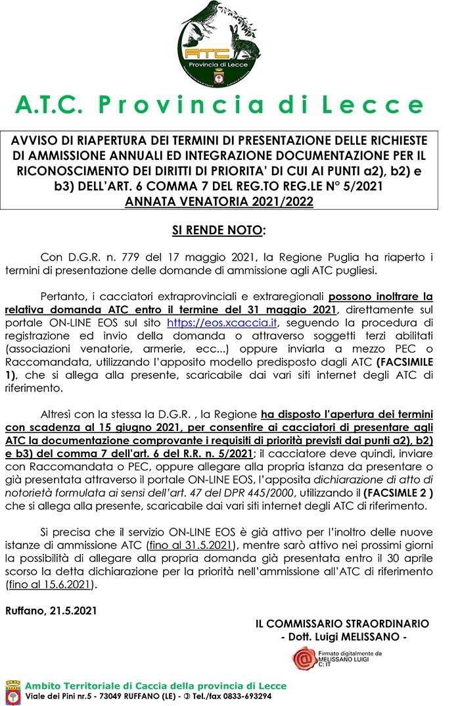 Cartina Atc Sicilia.A T C Provincia Di Lecce Ambito Territoriale Di Caccia Home
